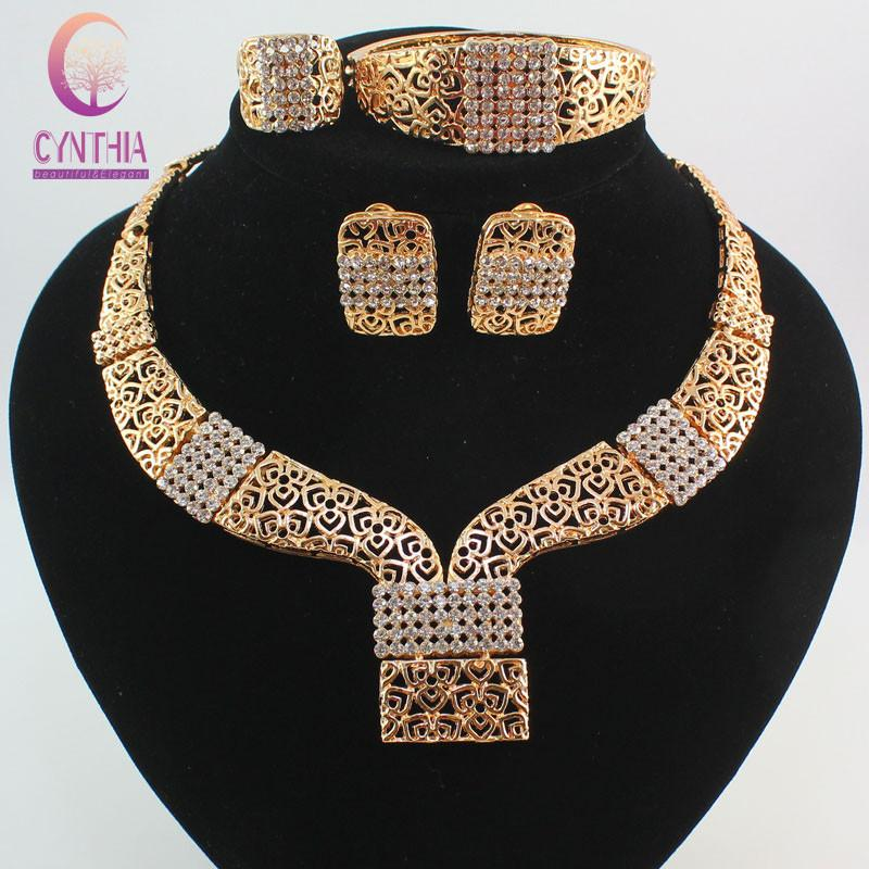 2018 New Nobler Dubai Design Fashion Costume Crystal Necklace Find ...