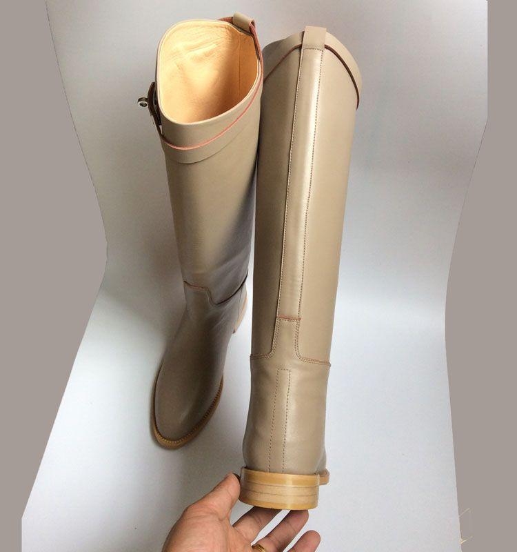 migliore qualità! consegna gratuita! U503 40/41/42 Genuine fibbia in pelle ginocchio Stivali alti H nero grigio di lusso classico classico Celeb Celeb