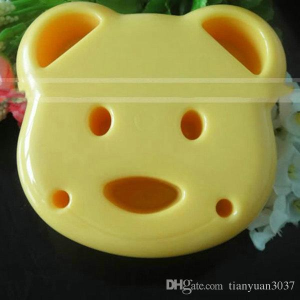 Home DIY Cookie Cutter Plastic Sandwich Toast Bread Mold Maker Cartoon Bear Tool silicone form baking tools for cakes cake decorating tools