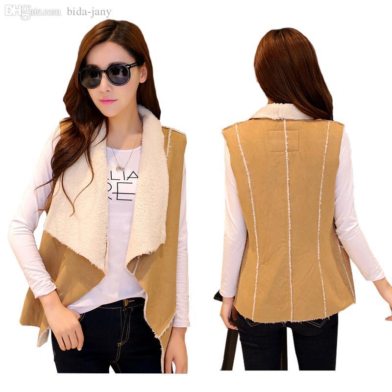 Online Cheap Wholesale Women Winter Sherpa Fur Vest Fashion ...