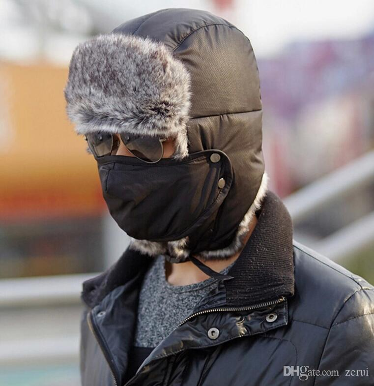 af21768069b 2019 Waterproof Super Warm Trapper Aviator Trooper Russia Earflaps ...