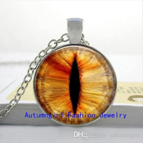 NS--00320 Evil Eye Pendant Necklace Cat Eye Necklace Jewelry Personalized Picture Necklace