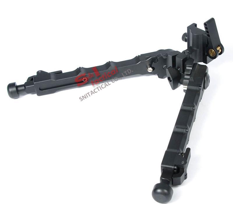 Tático de Alumínio SR5 Tripé Quick Desanexar SR-5 QD Bipé fit 20mm trilho picatinny para rifle scope Black / Dark Earth