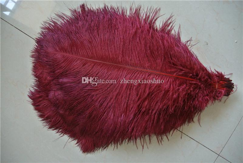burgundy Ostrich Feather plume 14-16inch wedding Centerpieces Wedding Decoration party supplies event supply decor crafts