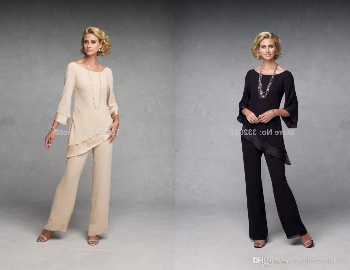 High Necked Long Sleeved Casual Mother Of The Bride