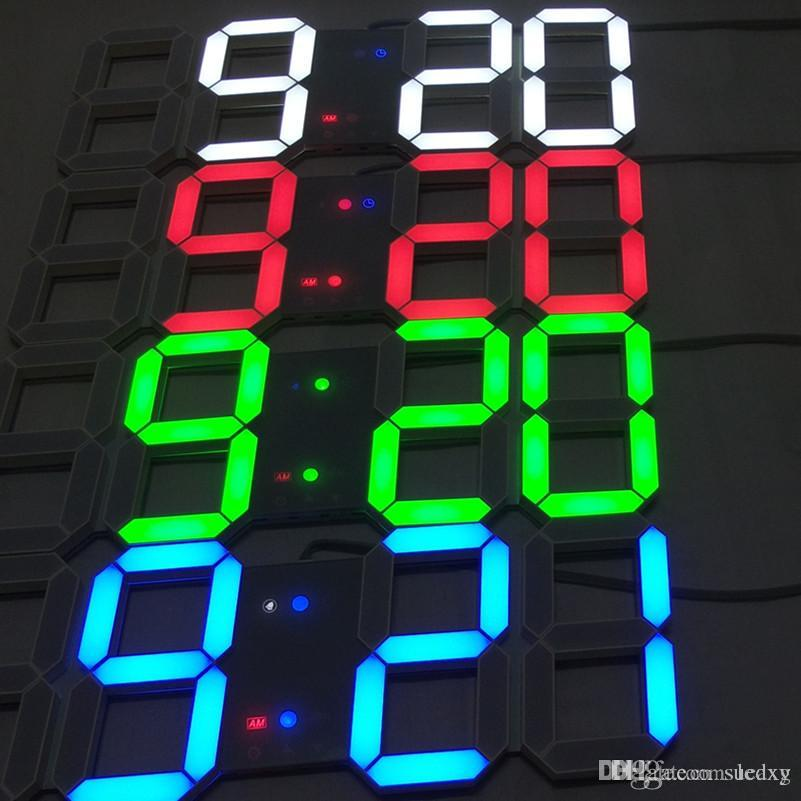 Modern led clock table clock super large digital wall Cool digital wall clock