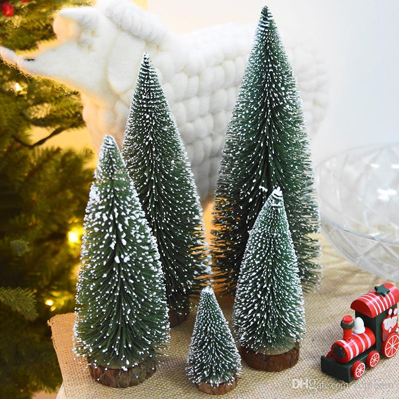 2017 mini christmas tree pvc small trees 5 sizes for festival party christmas decortions desk xmas trees for desk decorate your home for christmas decorate