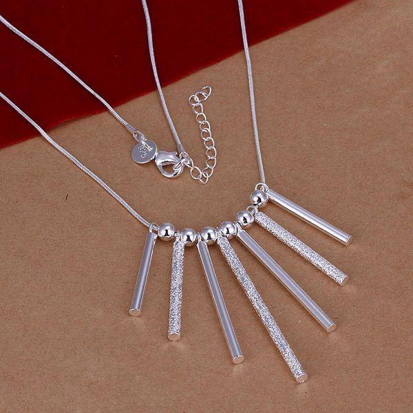 Freies Verschiffen mit Spurhaltungszahl Bestes heißestes Verkaufsfrauen-empfindliche Geschenk-Schmucksachen 925 Silber 7 Streifen Halskette