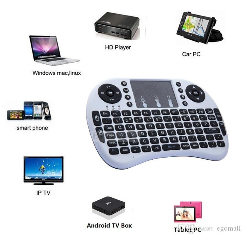 Rii Mini I8 Air Mouse 2.4G Wireless Remote Control Touchpad Handheld Keyboard for MX III M8 CS918 MXQ TV BOX Tablet