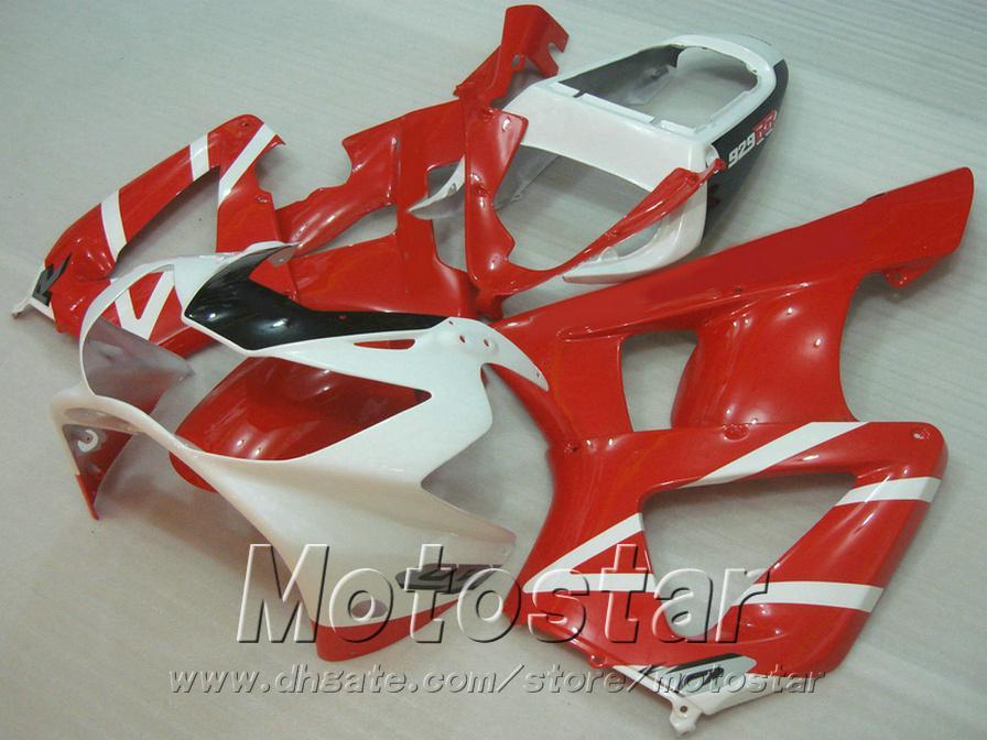 Personalizar carenados de motocicletas para HONDA CBR929 2000 2001 rojo blanco negro kit de carenado de plástico CBR 929 RR CBR900RR HB12