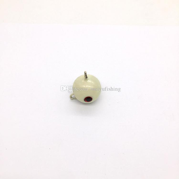 90g Artificial Spherical Luminous Lead Jig with 3D Eyes Big Game Fishing Tackle Hard Bait