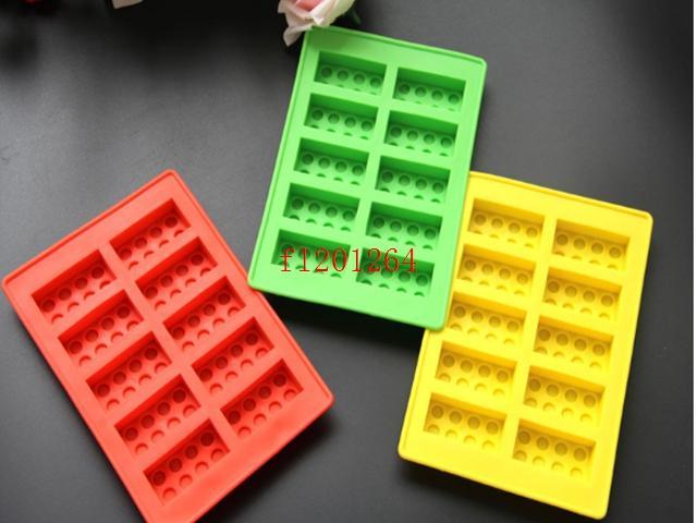 200 pçs / lote Frete Grátis blocos de Construção LFGB bloco de gelo Ice Mould Silicone Ice Cube Bandeja Tamanho 19x11 cm