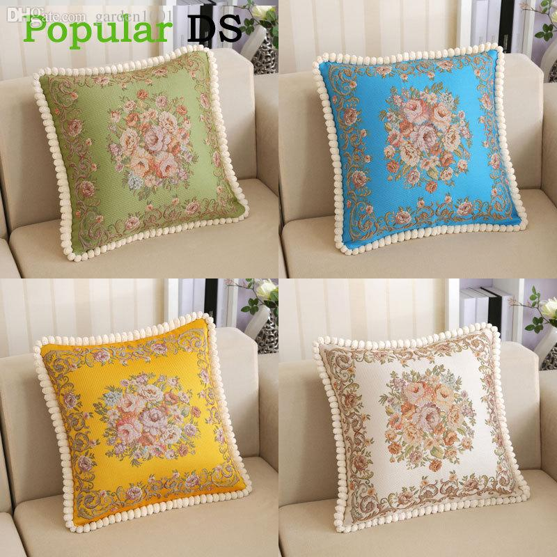 big discount for luxury european style stereo embroidery pillow cover bolster pillow sofa cushion cover decorative l58