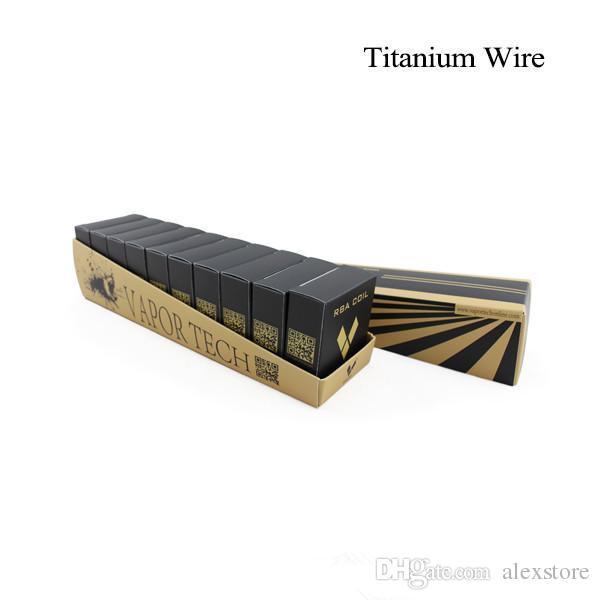 Vapor Tech Titanium Wire Resistance 30 Feet TA1 Ti grade 1 AWG 26g 28g 30g Gauge Coil For Temp Control TC Vape mod