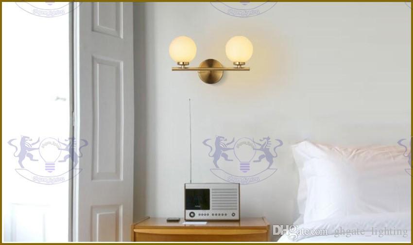 2017 Modern led G4 duvar lambaları başucu cam top duvar ışıkları ev Kapalı aydınlatma armatürü için ÜCRETSIZ NAKLIYE