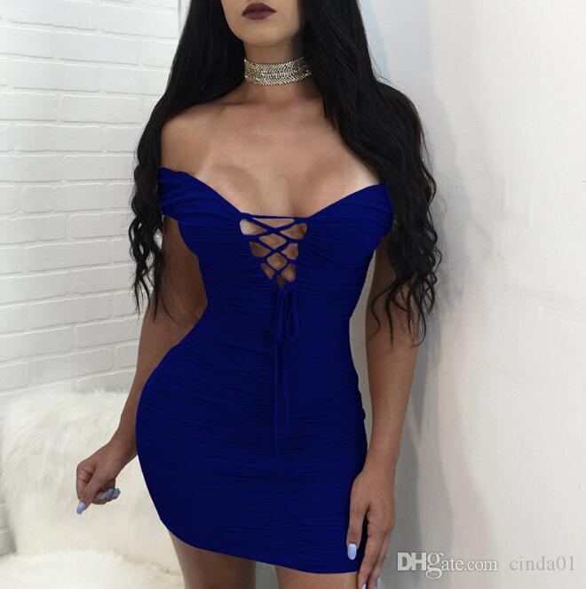 여성 섹시한 Bodycon 드레스 V 넥 붕대 디자인 파티 이브닝 드레스 칼집 등이없는 드레싱
