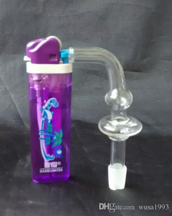 Venta al por mayor envío gratuito --- 2015 nuevo vidrio curvo transparente con boquilla de bombilla esmerilada, vidrio, seguro y conveniente