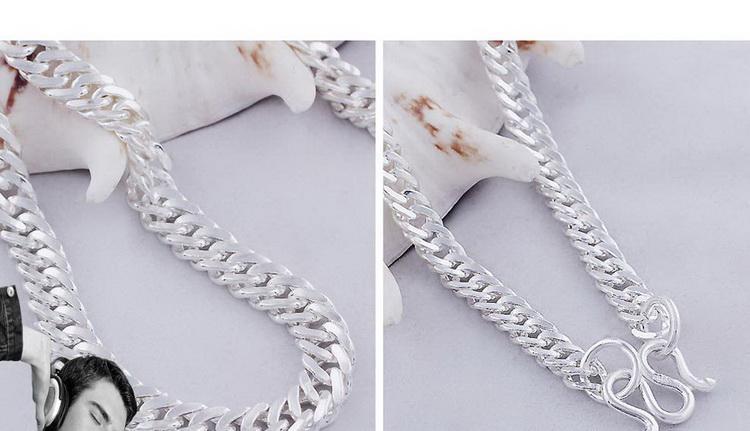 925 стерлингового серебра цепь хлыст боком мода серебряные ювелирные изделия ожерелье цепь мужчины ювелирные изделия бойфренд подарок на день рождения подарок на День Святого Валентина