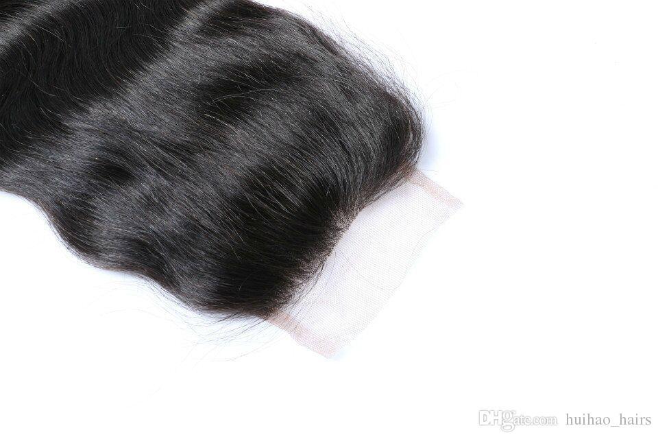 البرازيلي العذراء الإنسان الشعر نسج حزم غير المجهزة بيرو الهندي اللون الطبيعي موجة الجسم ريمي الشعر حزم مع إغلاق