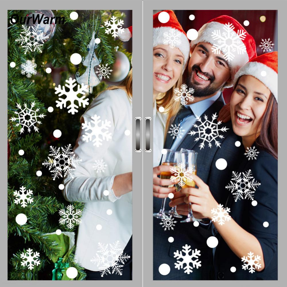 Ourwarm Christmas Window Stickers Office Christmas Party Supplies ...