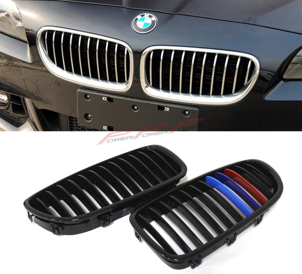 Abs Three Color M Look Finish Single Slat Front Grille For Bmw 5