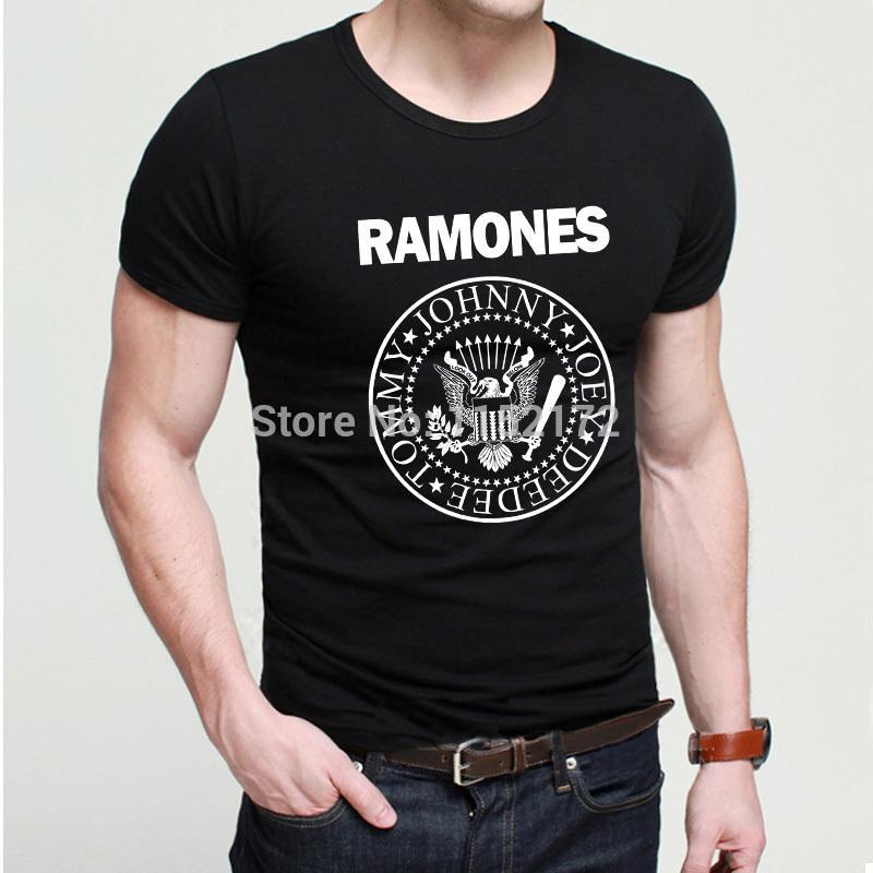 Men Cool Custom Design Rock Hip Hop T Shirts Popular Brand Ramones ...