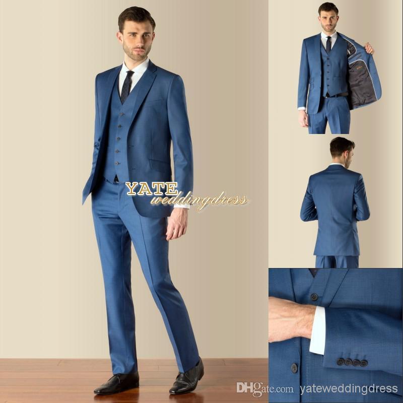 Most Fashion ! 2016 Teen Men'S Wedding Wear Blue Two ...