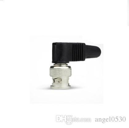 Yeni Kauçuk Sağ Açı video kablosu konnektörü ücretsiz kaynak BNC L Q9 plastik vida kaynak ücretsiz kamera gözetim video kafa ortak parçaları