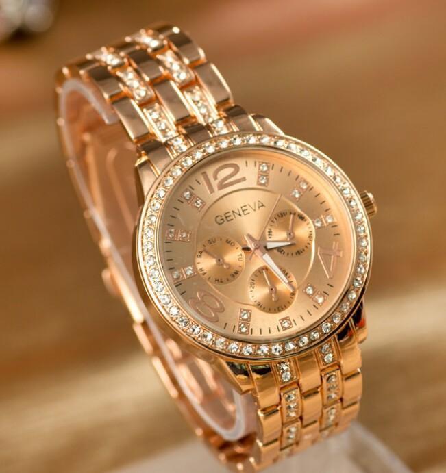 2016 Hot Women Diamonds Watches 3 Eyes Women Watches Ladies Designer Wristwatches Fashion Nice Free Ship Watches Discount Discount Designer Watches