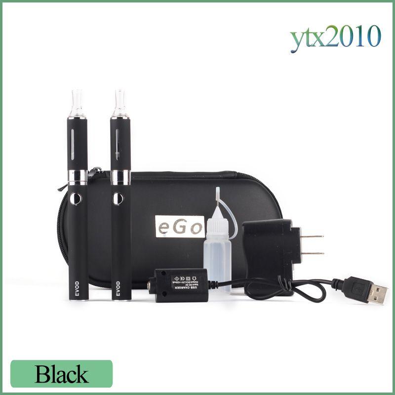 E 담배 MT3 EVOD 더블 스타터 키트 2.4 ML 기화기 650mah 900mah 1100mah EVOD 배터리 분리형 코일 Ecigs DHL 무료