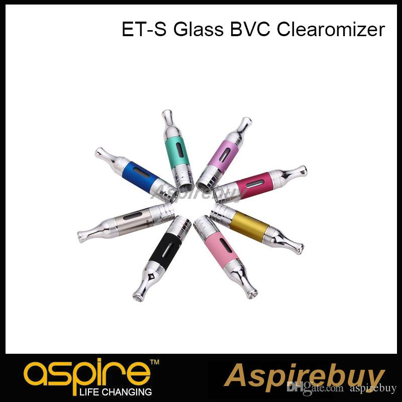 100% Autêntico Aspire ET-S BVC Clearomizer vidro BVC Tanque De Fundo Vertical Coil Tank Dual Coils Atomizador