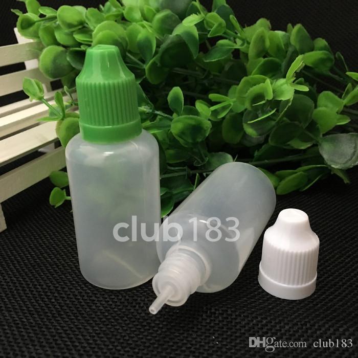 Großhandelspreis Soft Style Nadel Flaschen PE Kindersichere Flaschen 30mlColorful Elektronische Zigaretten leere Plastiktropfflaschen