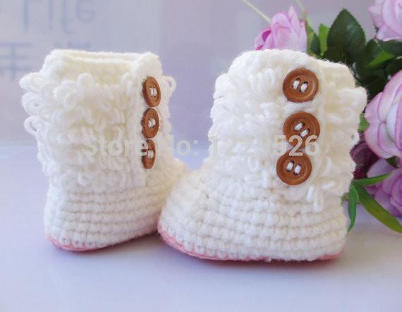 Handmade Crochet Bébé Première Baskets Laine Bottes Décontractées Pantoufles Unisexe