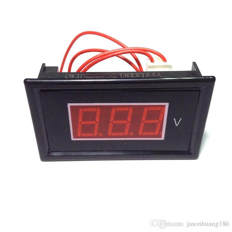 Мини переменного тока вольтметр переменного тока 60 в-500 в Вольт панели метр датчик Красный три 0.56