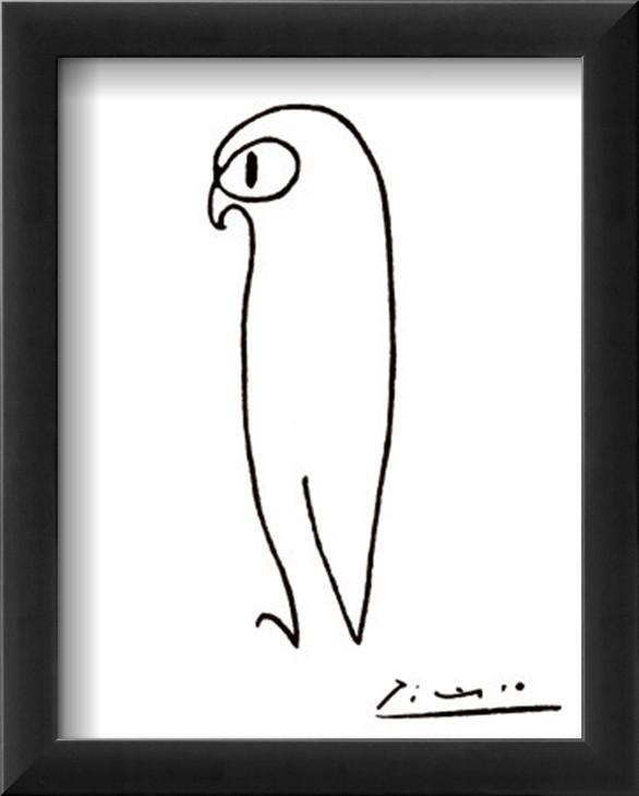 Beautiful Simple Art Painting Owl By Pablo Picasso Qualitynude Abstract Artoil Canvashome From Kixhome With Easy Paintings Black And White