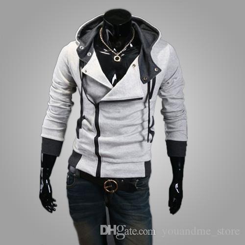 2016 New Men's Hoodies Fashion Winter Hooded Sweatshirt Plus Size Trench Coat Christmas Long Sleeve Cardigan Men Clothing Outerwear N23
