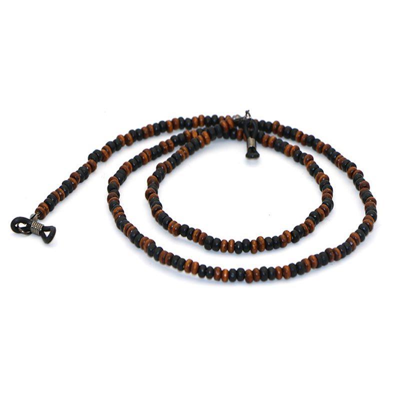 25b9d3b1d942 Wooden Beaded Eyeglasses Sunglasses Chain Cords Lanyard Rope Holder ...