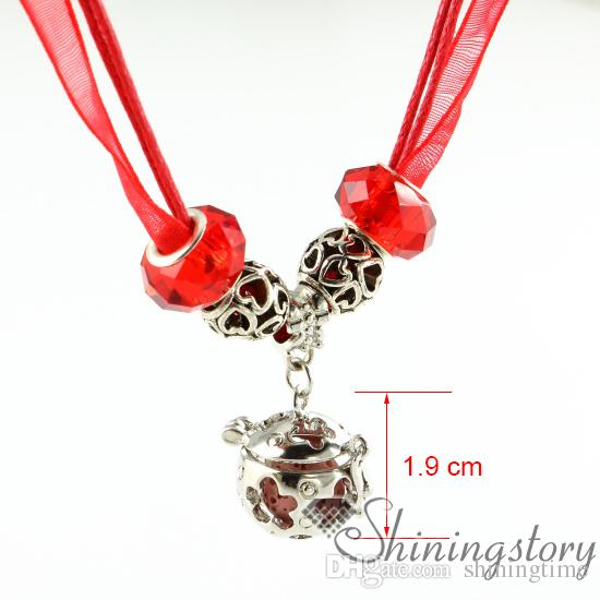 openwork organza necklaces wholesale diffuser necklace oil diffuser necklace aroma pendant natural lava stone essential oil necklace wholesa