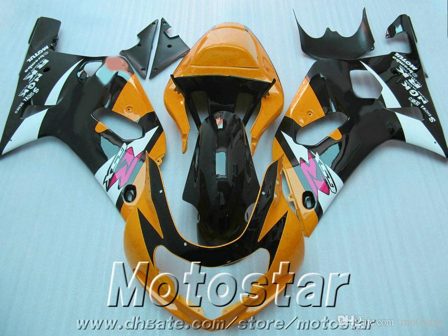 Carenature moto ABS SUZUKI GSX-R600 GSX-R750 Kit carenature K1 arancio nero 2001-2003 GSXR600 / 750 01 02 03 SK7