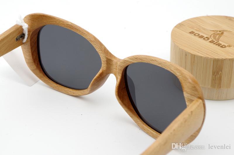 Бобо птица AG003a 2017 новые деревянные поляризованные солнцезащитные очки дизайнер деревянные рамы Eyeglasssun серый объектив с бамбук портативный подарочная коробка OEM