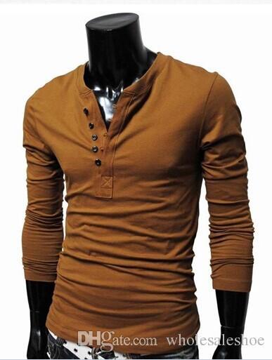 Best Men Shirt Mens Long Sleeve T Shirt Solid Color Men'S Shirt ...