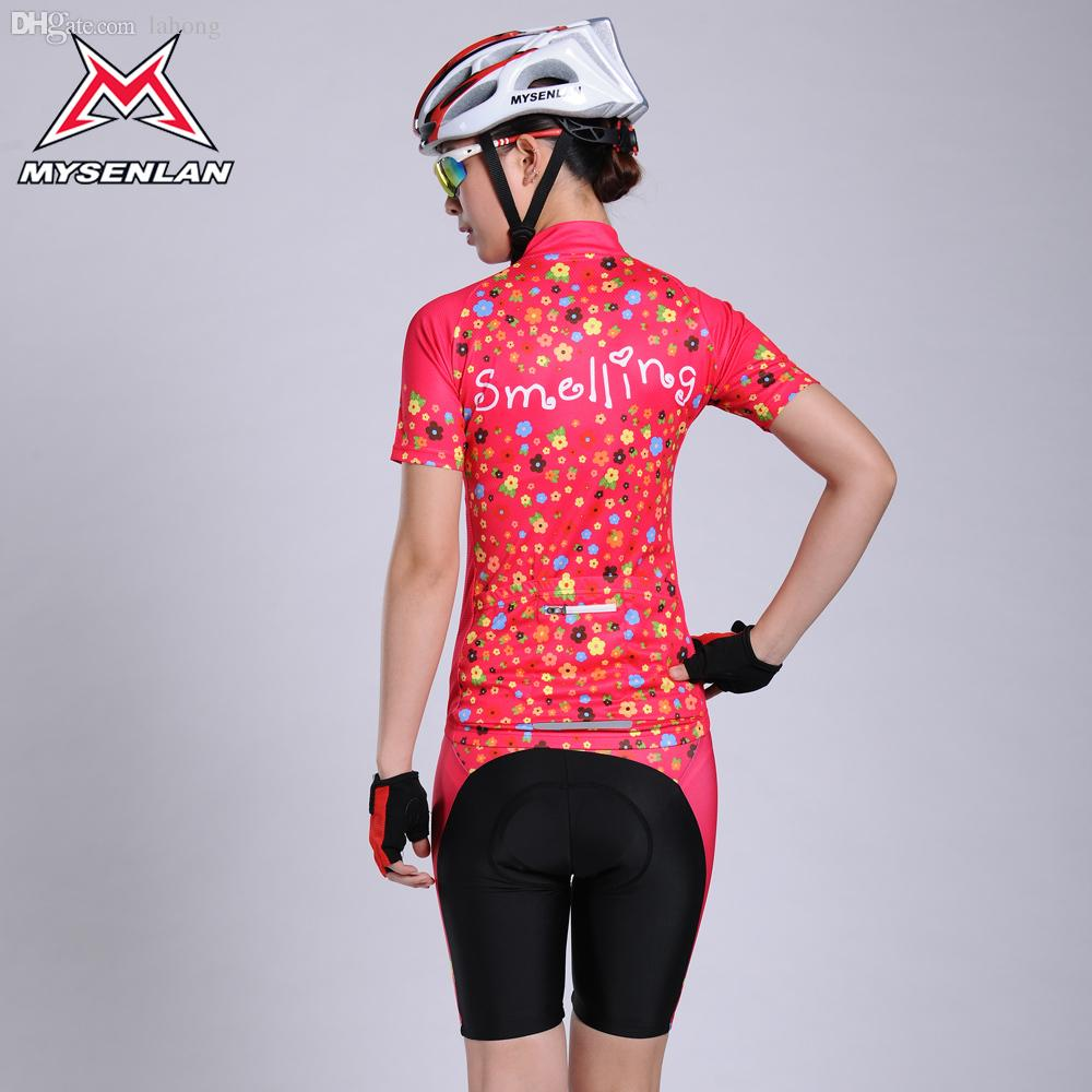 Wholesale-MYSENLAN Women Cycling Short Sleeve Jerseys Sets ... 4a1b12c99