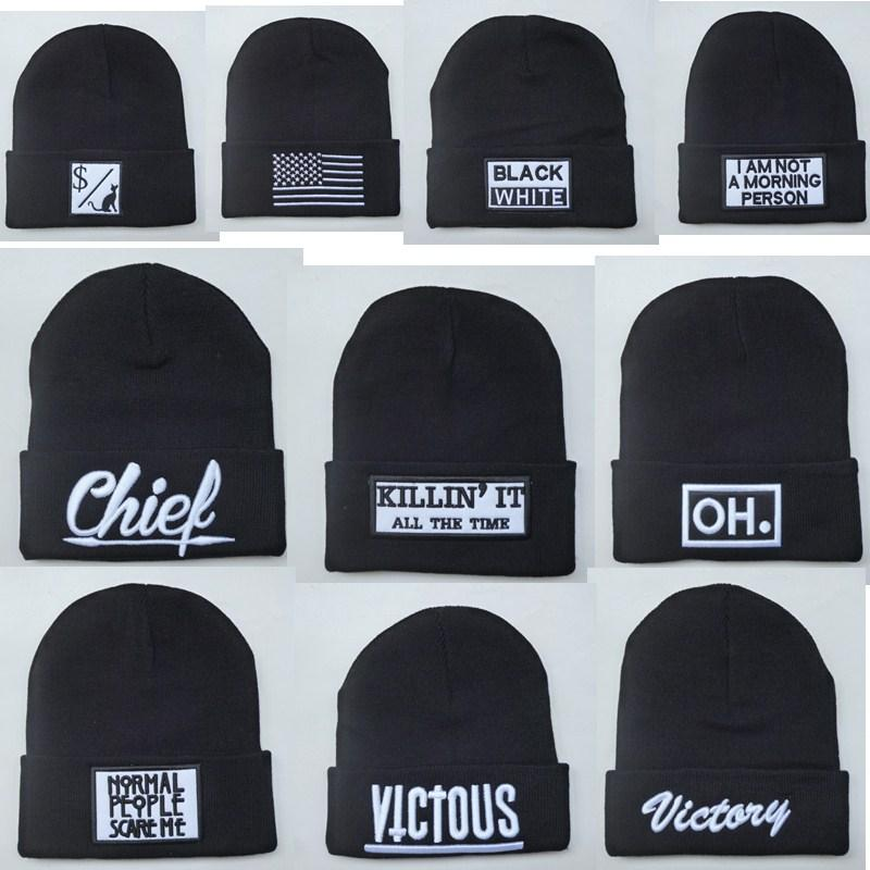 Wholesale New Brand Chief Beanies Hats Beanies Cap Men S Knitted Hat Hiphop  Hat Winter Cap Fashion Victory OH Black Skull Caps Beanie Cap Watch Cap  From ... 32c2e3bd519