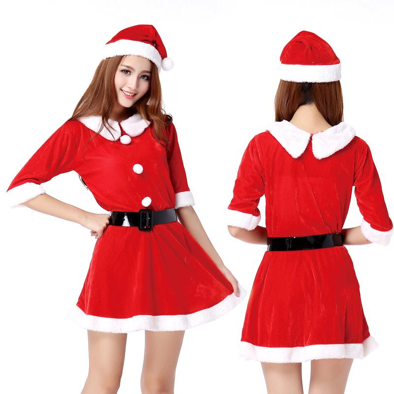 Christmas Gift Sexy Christmas Outfits Ladies Dress Santa Clothes ...