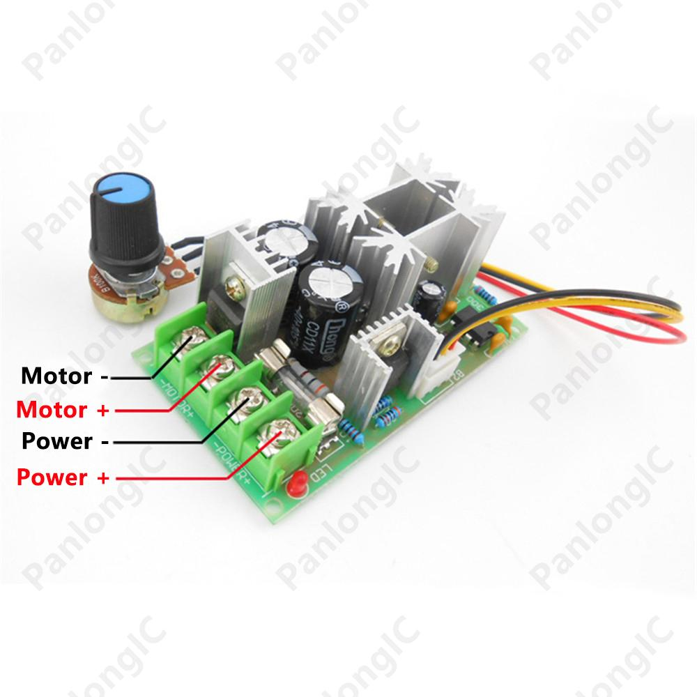 6v 60v 20a pulse width modulator pwm dc motor speed for Motor speed control pwm