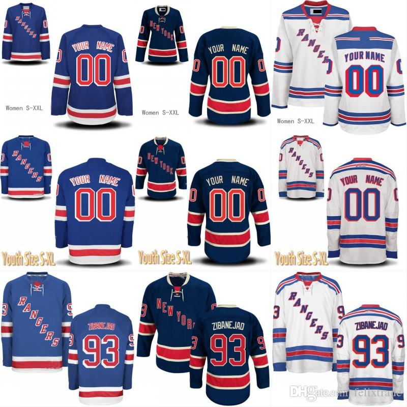 f1f11a5f98a Womens Youth New York Rangers Jersey 93 Mika Zibanejad 89 Pavel ...