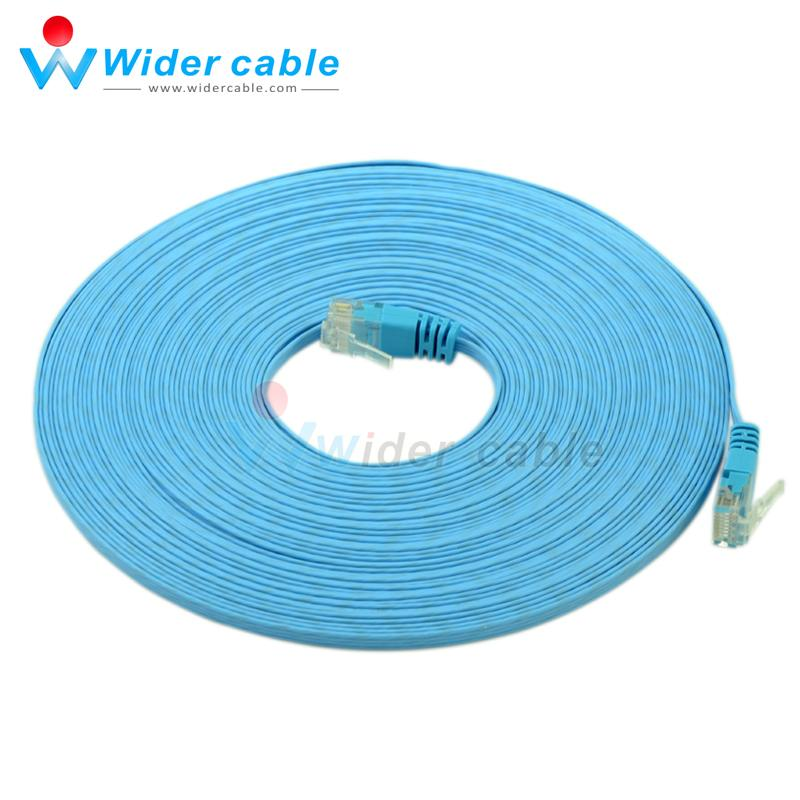 Premium Quality 50ft 32awg Flat Internet Cable Blue Color Thin Cat6 ...