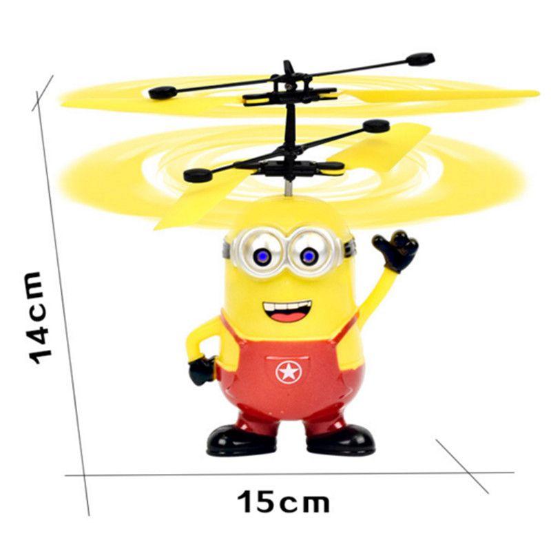 Led RC Helicopter Flying Induction LED Noctilucent Ball Quadcopter Drone Sensor Up grade infrared Induction flying Children Toys