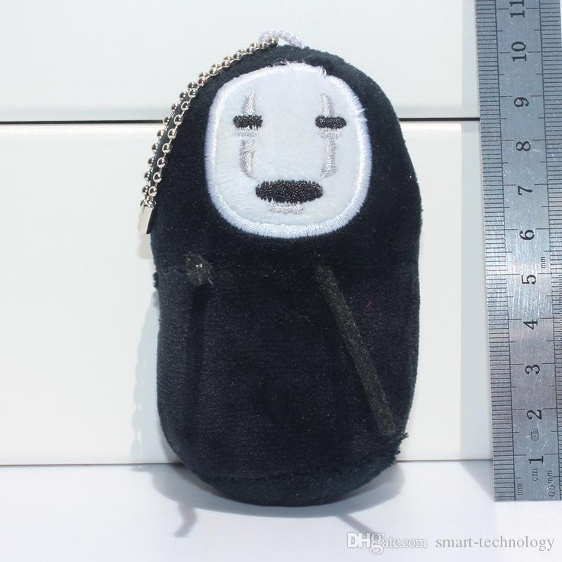 Cartoon Spirited Away No face Stuffed Plush Toys Wity Tag Soft Doll With Ring 10cm