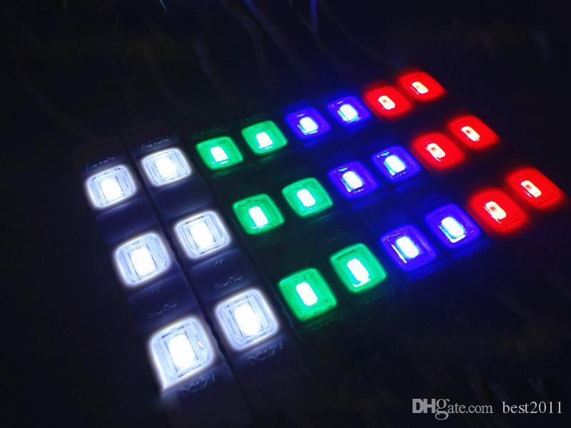 Module d'injection DC12V 5630 SMD 3 LED avec lentille Étanche Ip67 Décoratif Dur Barre Lumineuse Bar Lampe Lampe Blanc Rouge Vert Jaune Bleu